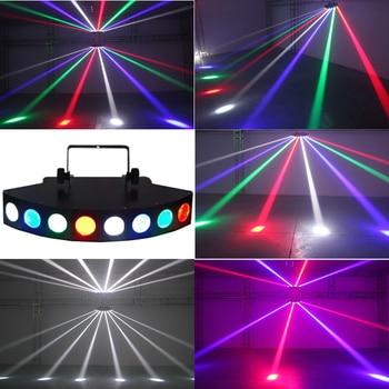 Цветной светодиодный светильник, восемь вентилятор объектива, яркий DMX512, восемь сканер глаз, сценический эффект, светильник для DJ Disco KTV Bar, в...