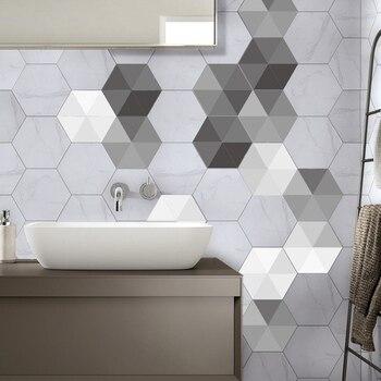 Hexagon Diy Orologio Da Parete 3d Adesivi Per Pavimenti Antiscivolo
