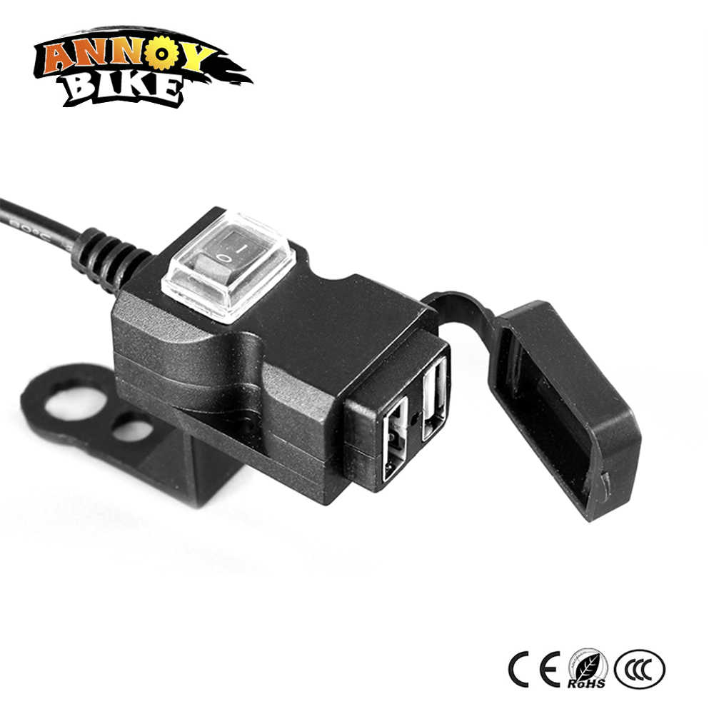 9-24v 9-90v 36V 48V 72V 84v  Double1.0A 2.1A USB Charger Universal Electric Scooter Motorcycle USB Mobile Phone Charger E-bike