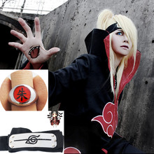 Naruto Akatsuki Cloak Hawk Snake Cosplay Costume Headband Ring Anime prop Set
