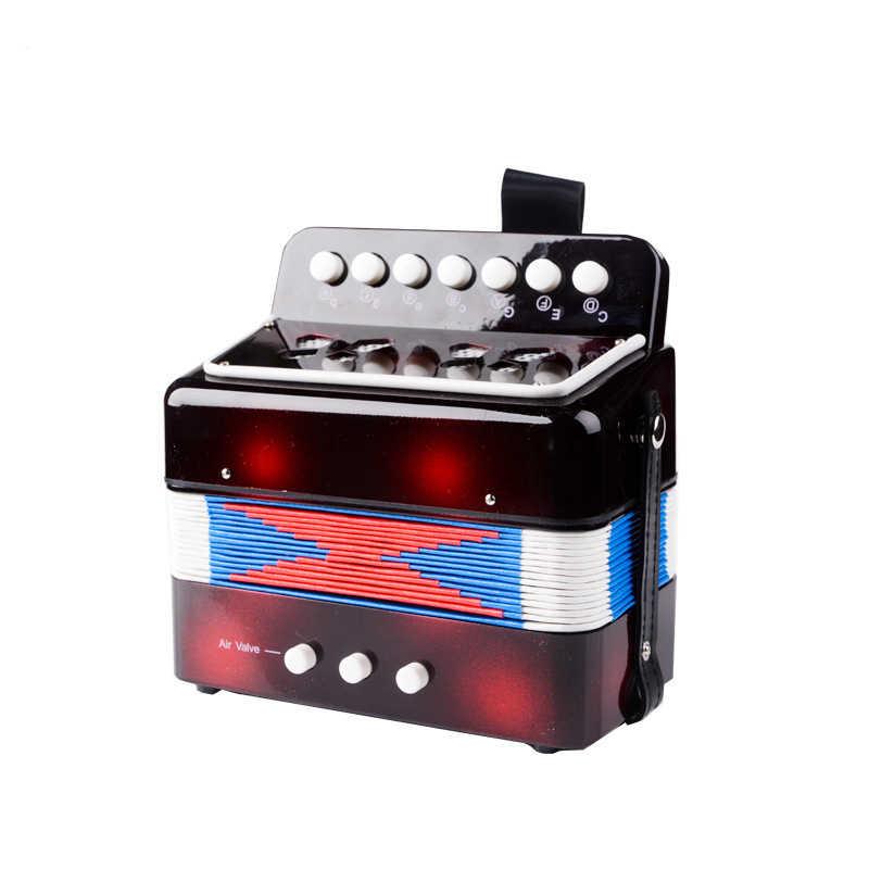 عالية الجودة للأطفال الأطفال 7 مفتاح 2 باس الأكورديون 10 اللون التعليمية آلة موسيقية إيقاع الفرقة لعبة