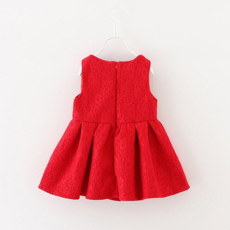 2016 Toddler Girl red Dress Baby Girls