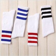 Nuevos hombres/mujeres 3 tres calcetines de algodón con rayas Retro de la vieja escuela Hiphop Skate largo corto calcetines Harajuku negro blanco invierno Cool