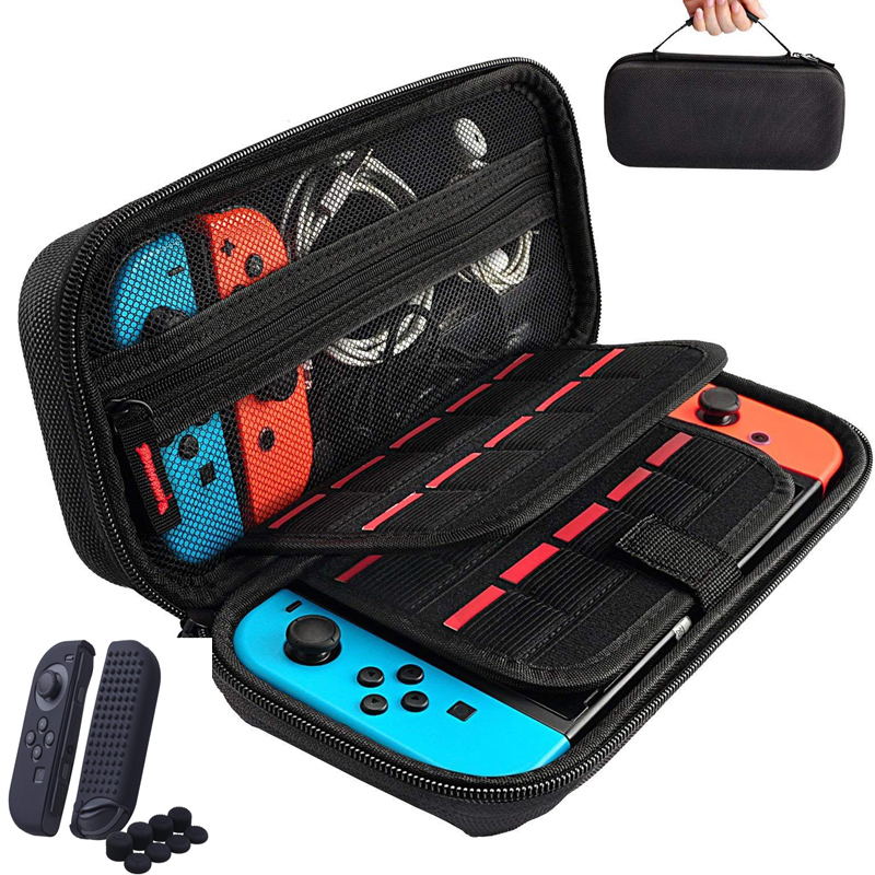 Storage Bag for Nintend Switch Nintendos Switch Console Handheld Carrying Case 19 Game Card Holders Pouch For Nintendoswitch(China)