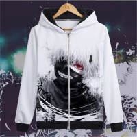 Tokyo FILMANN Hooded Jin Muyan Spring Autumn Winter Men and Women Lovers Hooded Tokyo Ghoul 3D Digital Printed Jacket