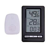 Big sale Wireless Indoor Outdoor Weather Station Thermometer with Desktop Clock Display Sensor Temperature Electronic Temperature Meter