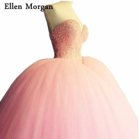 Elegant Pink Quinceanera Dresses For Girls 2018 Sexy Sweetheart Tulle Lace Up Beautiful Debutante Sweet 15