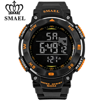 SMAEL S SHOCK Digital Watches Men Sports 50M Waterproof Watch Large Dial Hours Military Luminous Wristwatches