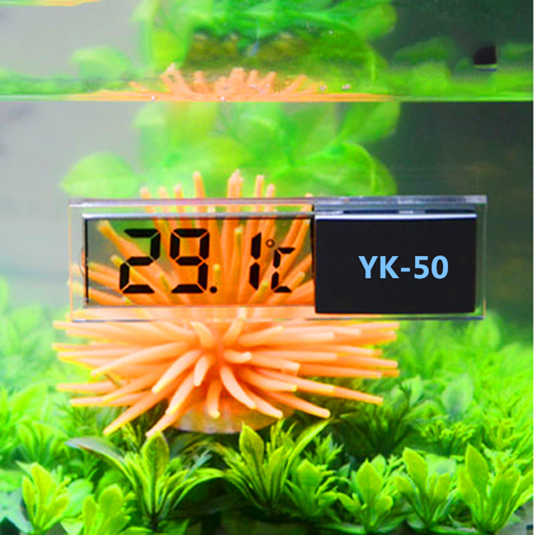 New Multi-Functional Aquarium Fish Tank Thermometer LCD 3D Digital Electronic Temperature Measurement Temp Meter