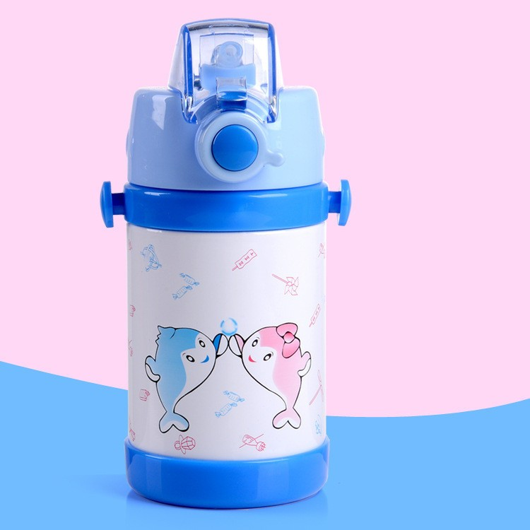 280360ml cartoon Vacuum stainless steel water bottle cup Baby Thermos Mugs Child Thermal Drink Travel Cups leakproof HJ38 (11)