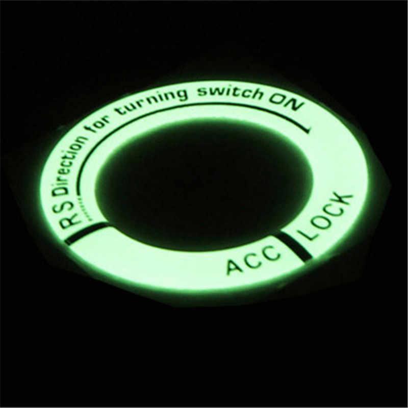 Newbee ثلاثية الأبعاد سيارة التصميم توهج حلقة رئيسية ثقب ملصقا Lumunous مفتاح إشعال غطاء دراجة نارية ملصق مائي دائرة ديكور الإضاءة