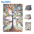 Shell For Apple ipad 6 / ipad air 2 PU Leather 9.7 inch Coque Fundas Case Cover for A1566 A1567 9.7' Painting Stand Fashion Girl
