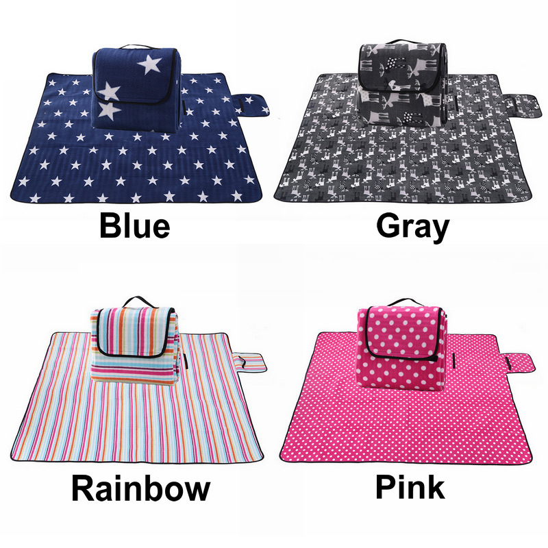 130 170cm Foldable Outdoor Camping Mat Picnic Mat Pad Blanket Baby Play Crawling Mat Waterproof Beach Blanket Mat in Camping Mat from Sports Entertainment