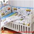 6 шт.  набор постельных принадлежностей для детской кроватки  милый дизайн  комплект детской кроватки  защитный бампер для детской кроватки (...