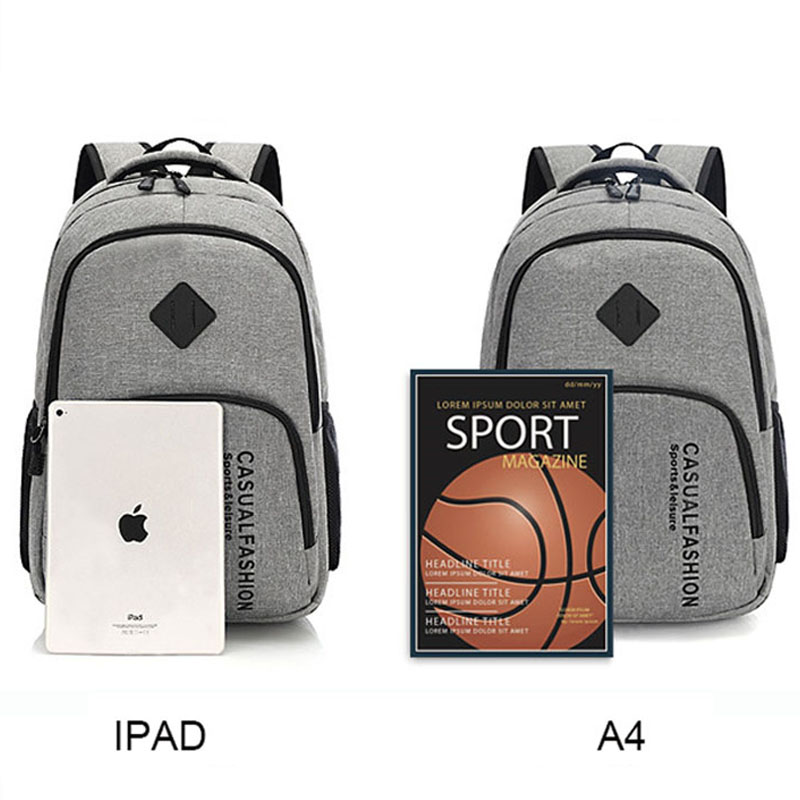 2019 New Fashion Men's Backpack Bag Male Canvas Laptop Backpack Computer Bag High School Student College Student Bag Male #5