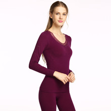 2017 Thin Set Women's Body Suit Fashion  Wave Edge Long Johns Tight Slimming winter warm Thermo Thermal Underwear Women