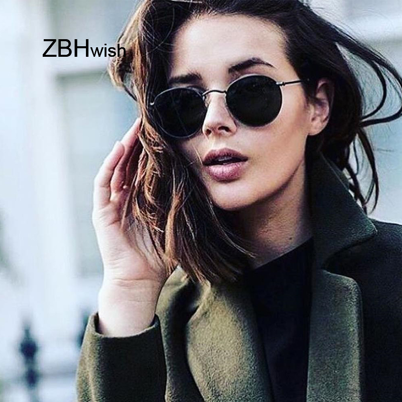 2019 Retro Round Sunglasses Women Brand Designer Sun Glasses For Women Alloy Mirror Sunglasses Ray Female Oculos De Sol