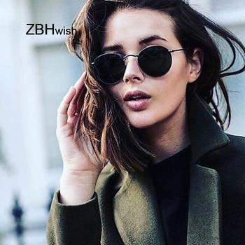 ae9359c031 Gafas De Sol redondas Retro 2018 para mujer, gafas De Sol De diseñador De  marca para mujer, gafas De Sol con espejo De aleación, gafas De Sol para  mujer