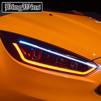 BINGWINS Car Styling For Ford Focus 3 2015 2017 Headlights LED Headlight DRL Lens Double Beam