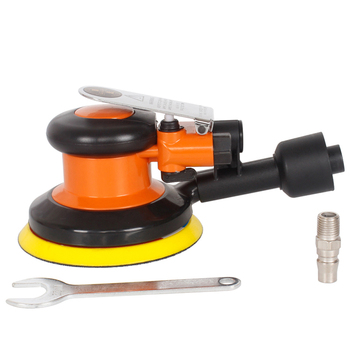 5inch Car Polisher with Vacuuming Functions Pad Pneumatic Sander Vacuum Cleaner Set Tool Pneumatic Polishing Machine GY-125C