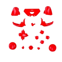 5 sets / lot Repair Buttons Kit Set for Xbox One Solid Red Color
