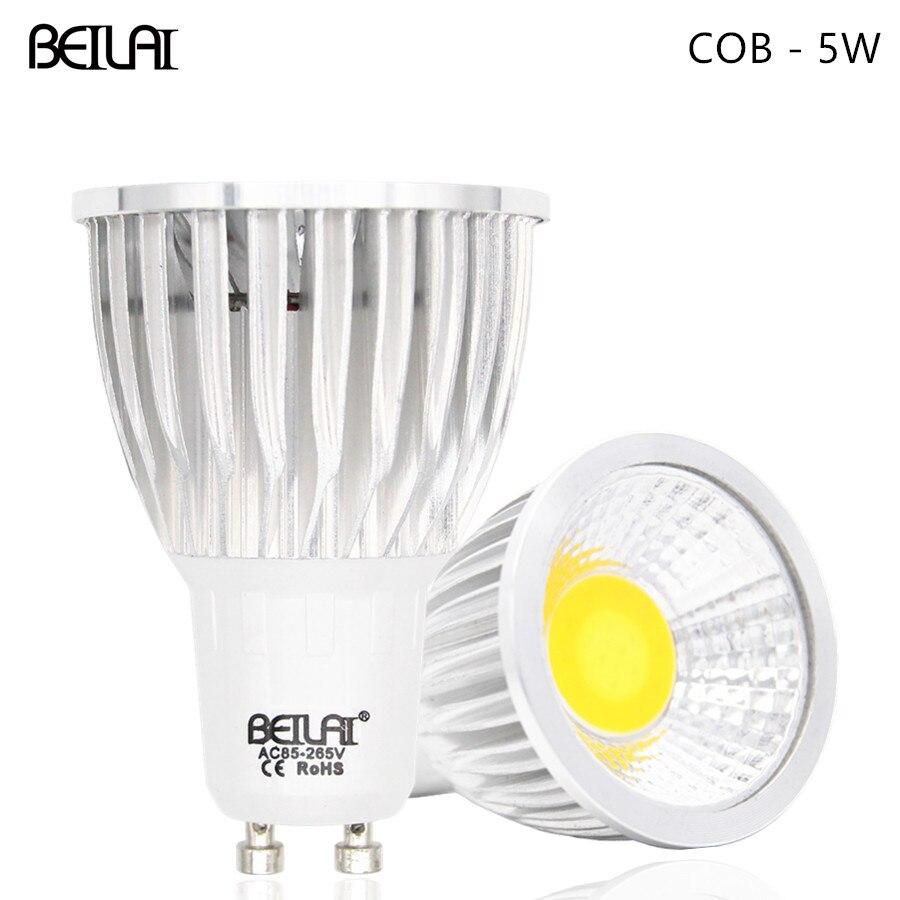BEILAI COB LED Spotlight GU10 85 265V 5W Lampada LED Lamp 220V 110V Spot Lamparas LED Bulbs 3     -> Lampada Spot Led