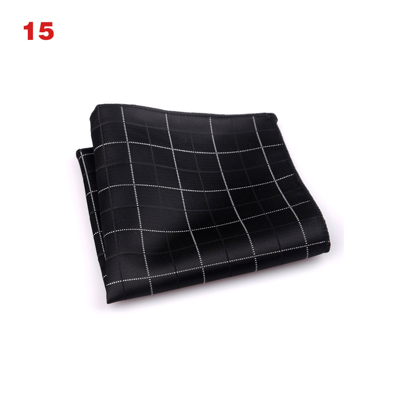 Luxury Men's Scarf Polka Dot Striped Floral Printed Scarves Polyester Scarf Business Square Pocket Towel Chest