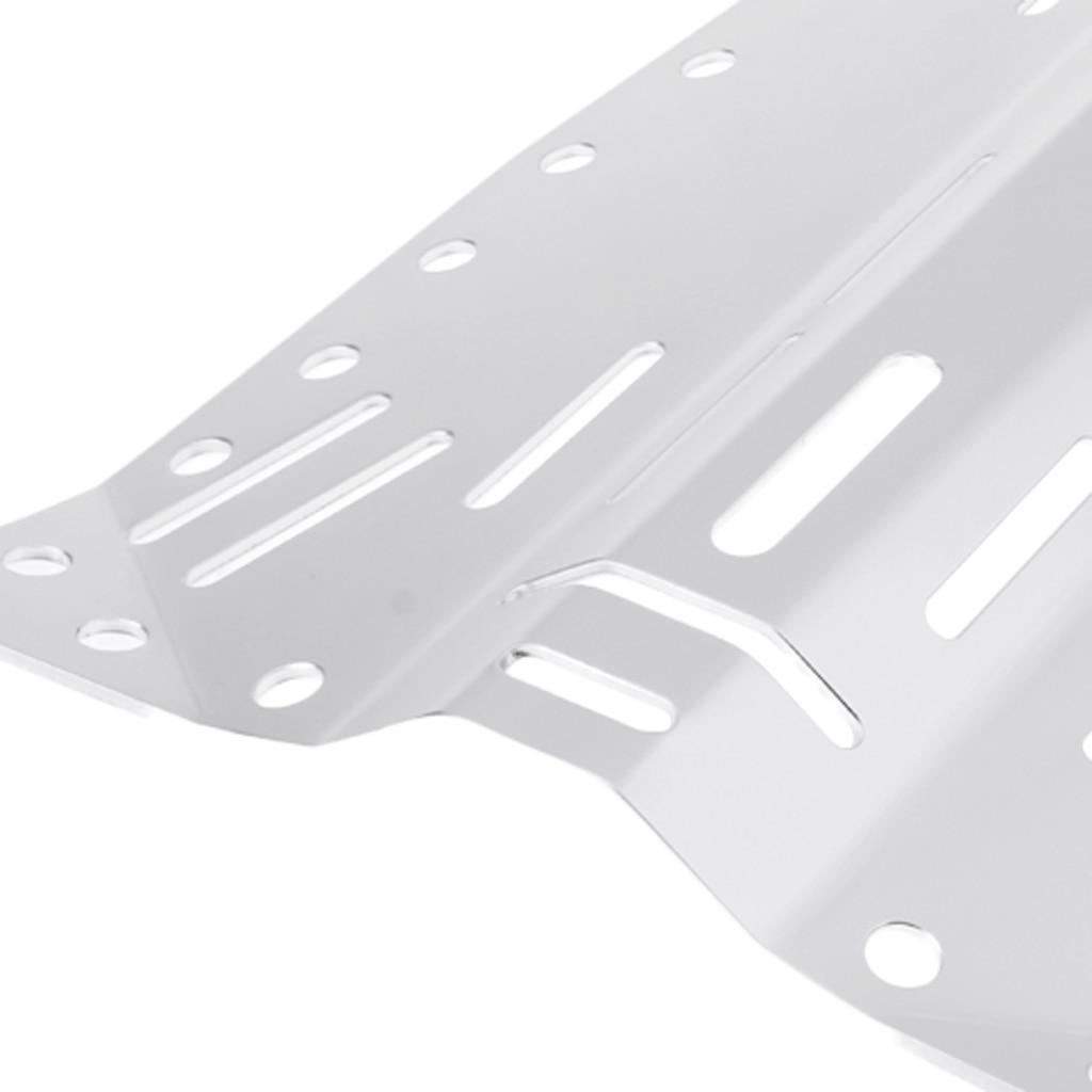 Plaque arrière de plongée sous-marine-plaque arrière de plongée en alliage d'aluminium de 3mm d'épaisseur, argent