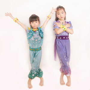 Image 4 - Shimmer and Shine Boxed Shimmer Dress Up Set Pre School Costume Girls Outfit cosplay costumes Free shipping