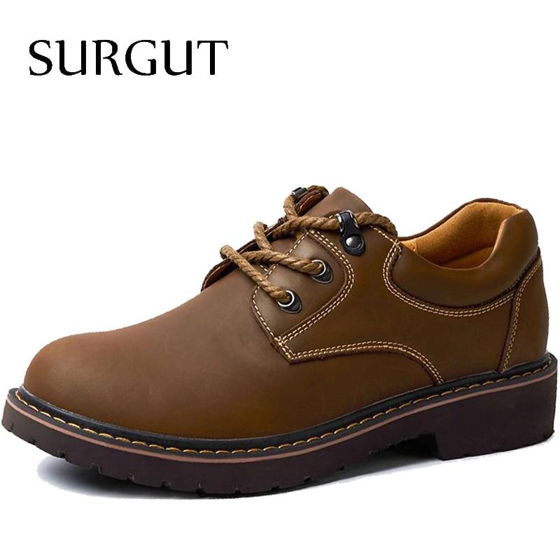 SURGUT Marca Hecha A Mano Transpirable hombres Zapatos Oxford Zapatos de Vestir