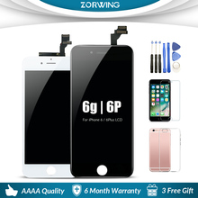 Grade AAA Quality 5.5 inch Replacement Screen LCD For iPhone 6 Plus Display With Touch Screen Digitizer Assembly in Black White