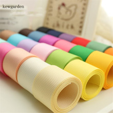 Kewgarden 50mm 2 38mm 1.5 25mm 1 Grosgrain Ribbon DIY Bowknot Packing Satin Handmade Tape Double Face Riband 10 Meter