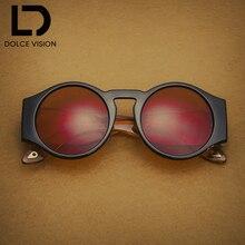 купить DOLCE VISION Round Vintage Sunglasses Women Eyewear Retro Design Transparent Sunglasses Lady Shades Red Lens Oversize Oculos New по цене 567.53 рублей