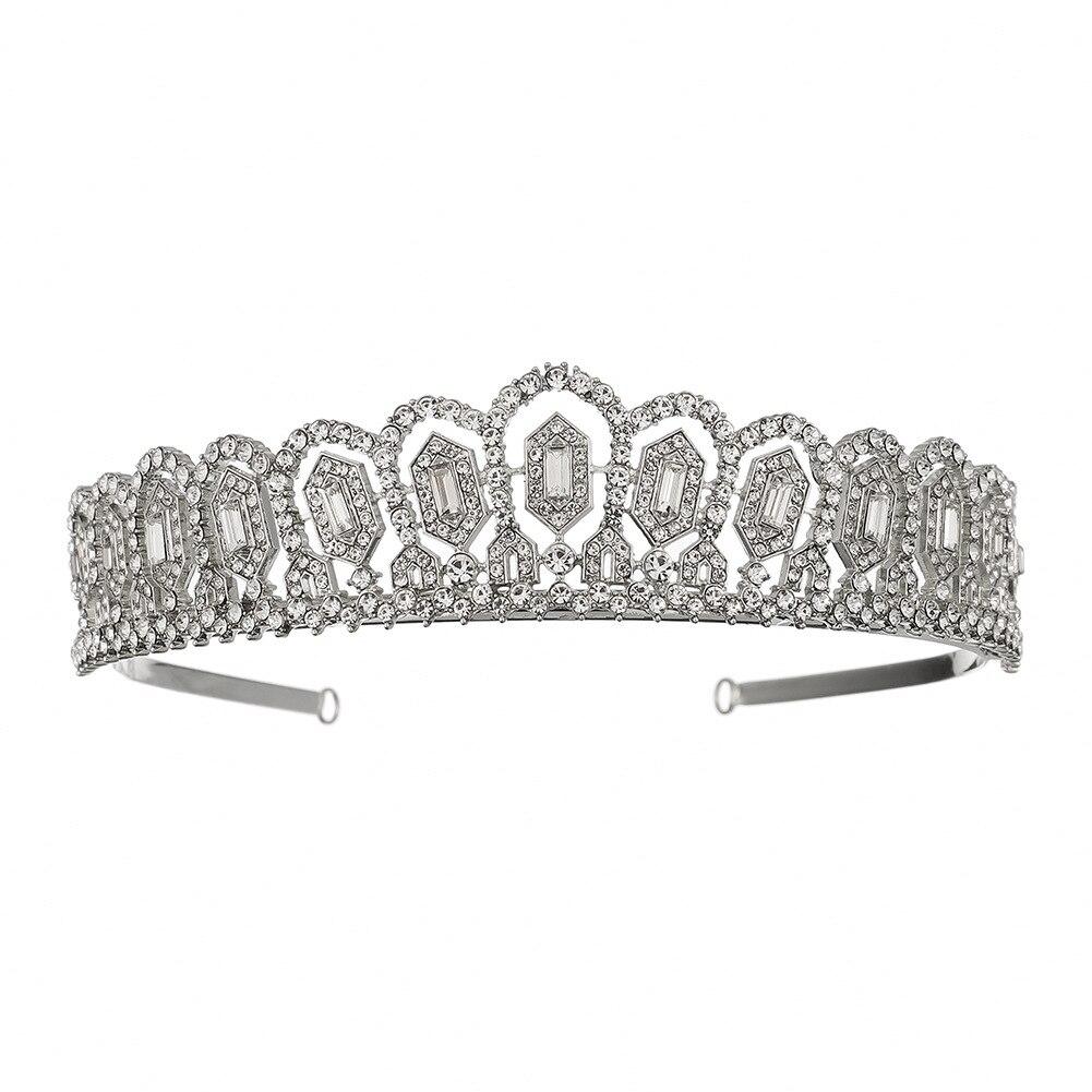 1 Pc Handmade Kristall Kronen Hochzeit Pageant Braut Tiara Crown Princess Kopfstück Strass Haar Zubehör Für Geburtstag Party Phantasie Farben