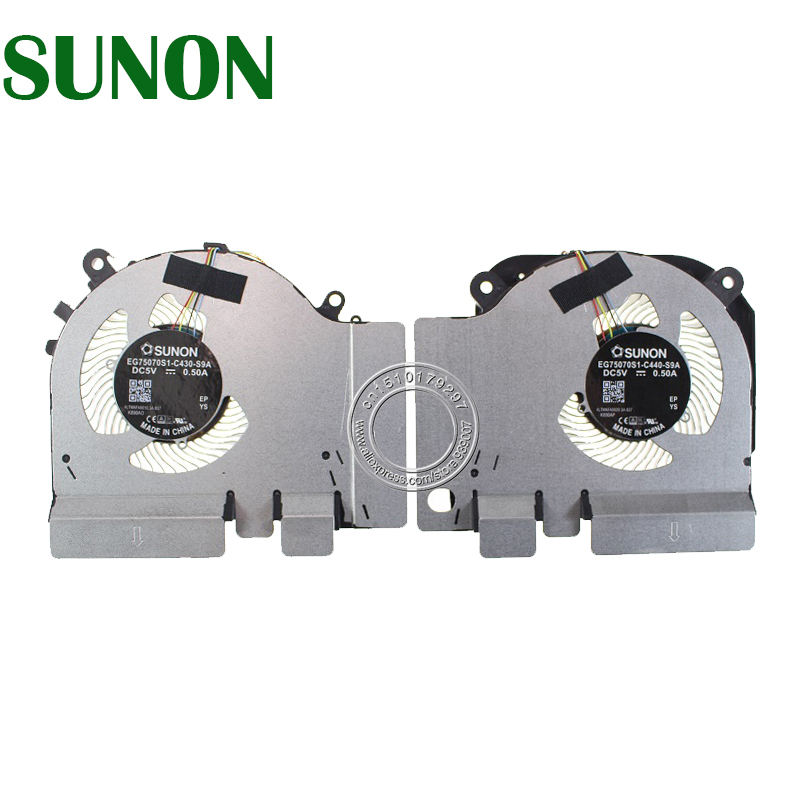 EG75070S1-C430-S9A EG75070S1-C440-S9A DC5V 0.50A 4PIN Cooling Fan For Xiaomi MI 15.6 Game Notebook GTX 1050Ti 4G Edition Fan image