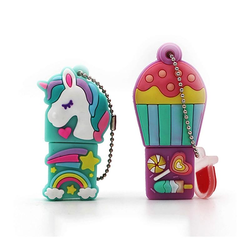 Cartoon Unicorn Pen Drive 64gb 32gb Usb Flash Drive Cute Horse Pendrive Real Capacity 4g 8g 16gb Memory Stick Gift Free Shipping