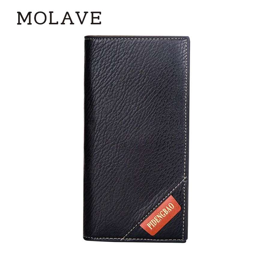 MOLAVE wallets	wallet male Solid card holder PU Leather Men Long Bifold Business Wallet Money Card Holder Coin Bag Purse Feb13 genuine leather men business wallets coin purse phone clutch long organizer male wallet multifunction large capacity money bag