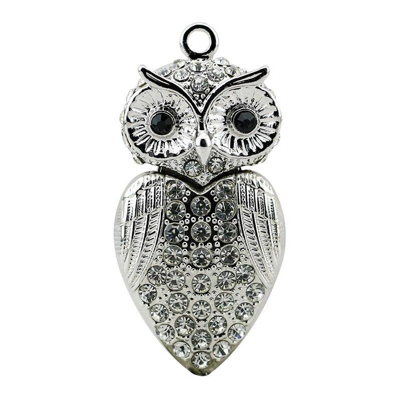 verklig kapacitet USB Flash Drive Diamond Metal Material Owl Cartoon - Extern lagring - Foto 6