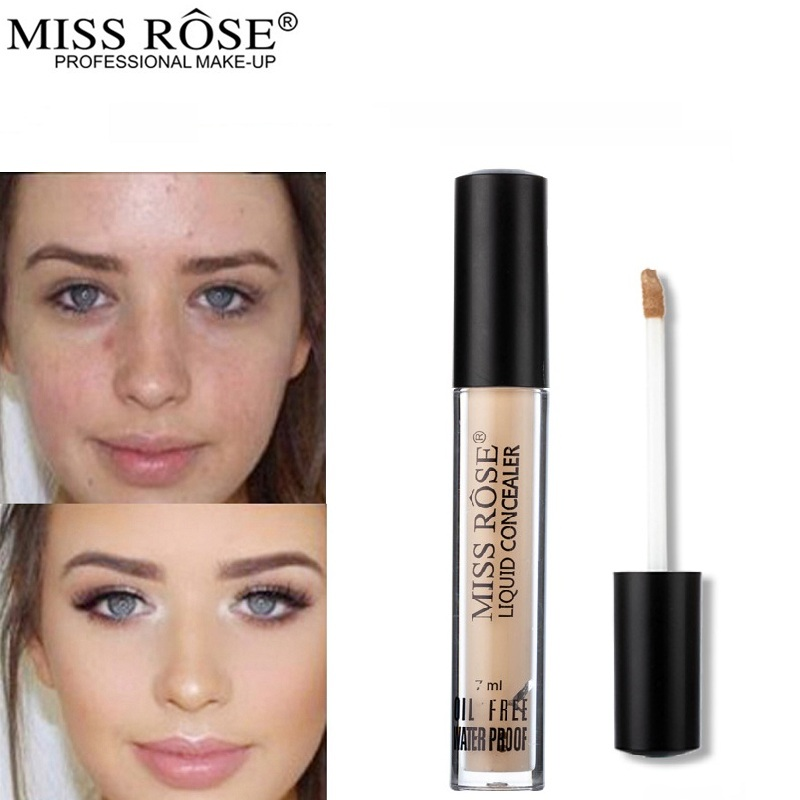 MISS ROSE 7ml Mini Concealer Foundation Base Makeup Repair Nourish Oil Control Liquid Foundation Nude Make Up Bases Maquiagem @ halei lovers watches crystal inlaid full steel quartz watch women men simple casual wristwatches silver clock calendar relojes