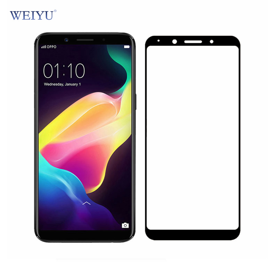 WEIYU 9H Full Cover Tempered Glass For OPPO F5 Protective Film Explosion-proof Screen Protector