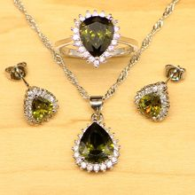 rainbamabom 925 sterling silver mystic rainbow topaz gemstone earrings ring necklace women cocktail jewelry set gift wholesale Water Drop Dark Yellow Topaz Women 925 Sterling Silver Jewelry Set Wedding Earrings/Pendant/Necklace/Ring Free Gift Box&Shippinh