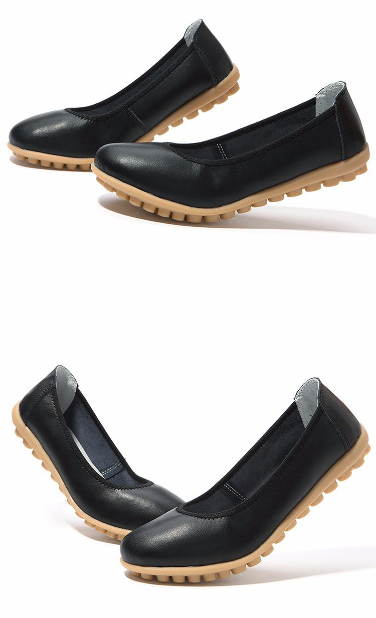 New 2016 Women Leather Shoes Slip-on Ballet Women Flat Comfort Shoes Woman Chaussure Homme Women Loafers BT94 (4)