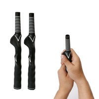Durable Rubber Golf Club Grips Adult Swing Training Grip Outdoor Teaching Practice Aid Men Women Right-Handed Golf Grip Black