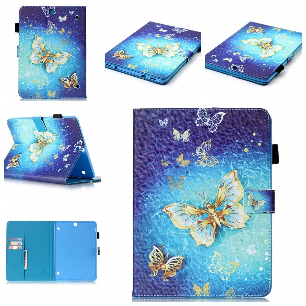 Wallet Coque Fundas For Samsung SM-T719 8 Inch PU Leather Case Cover For Samsung Galaxy Tab S2 8.0 T710 T715 Painted