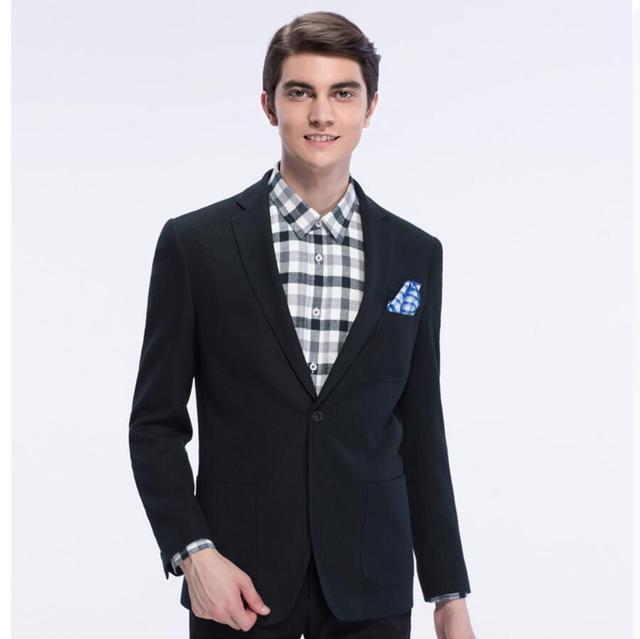 Мужской пиджак горячие продажи последней бизнес работа топ пользовательские качества, чистый цвет однобортный мужской костюм куртка