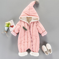 Newborn Baby Boy Clothes Winter Infant Bebe Girl Thicken Warm Hooded Romper Fashion Outwear Snowsuit Jumpsuit Set