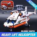 Lepin 20002 grupo de carga del helicóptero de la serie de la tecnología mecánica Compatible Con 42052 Niño juguetes de junta