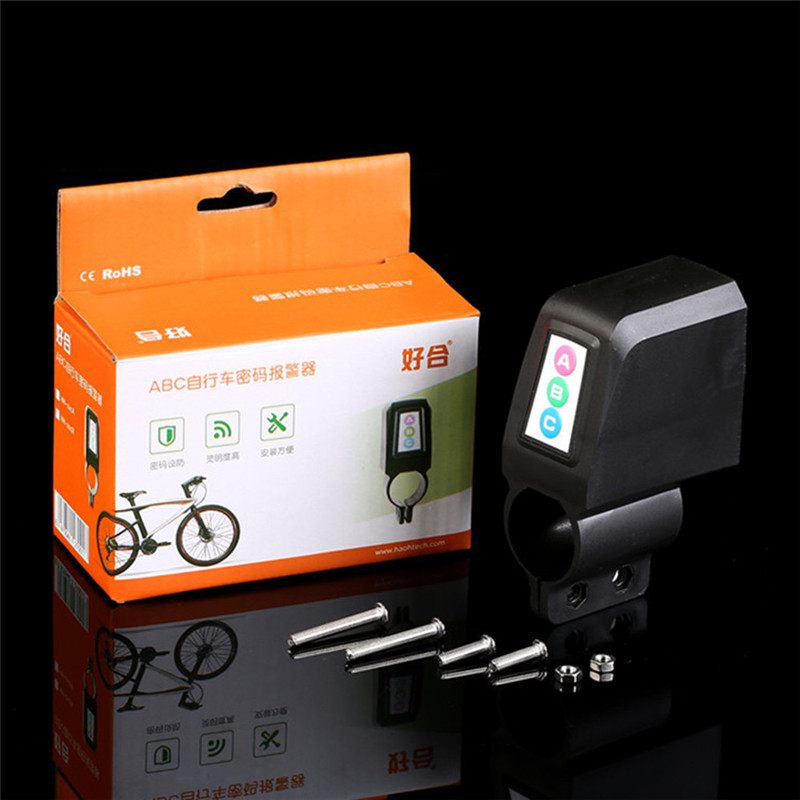 Bike Motorbike Anti-Theft Alarm Audible Sound Loud Security MTB Steal Lock Sturdy plastic 9.8x3.7x6cm Bike Alarm Lock #51405