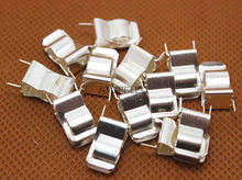 2 stuks PCB Solderen Mount 6x30mm Zekering Houder Clip Chassis 6mm * 30mm Tin Plated messing 0.4mm Dikte(China)