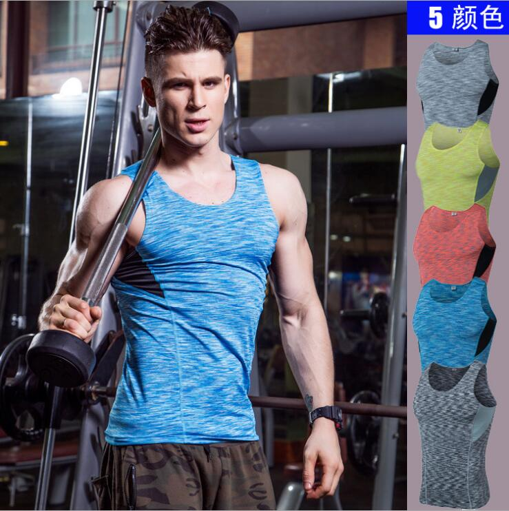 Men's Bodytight PRO Sports Fitness Basketball Running Training Tank Top Stretch Vest Stretch Vest Clothing